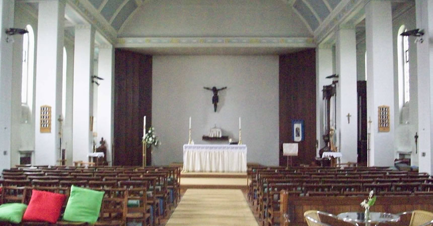 Inside of St Gabriel's Church